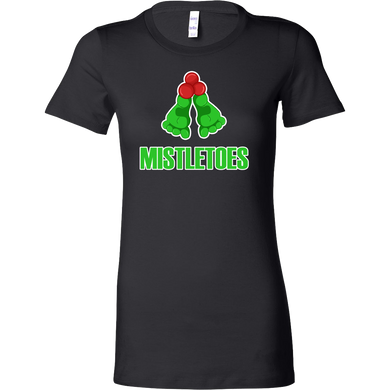 Christmas Funny and Cute Mistletoes Novelty Bella Shirt