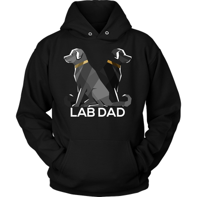 Dog Dad Lab Black Pet Labrador Retriever Hoodie