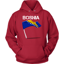 Bosnia Proud Vintage World Flag Hoodie