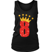 Stunning and Fabulous 8th Crown Stamped Women's Tank