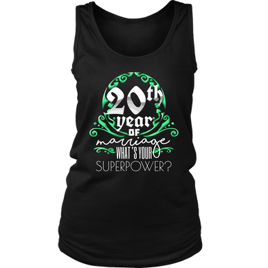 Anniversary Gift 20th, 20 Years Of Marriage Women's Tank