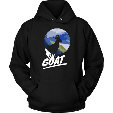 Vintage Style Goat Farm Animal Silhouette Hoodie