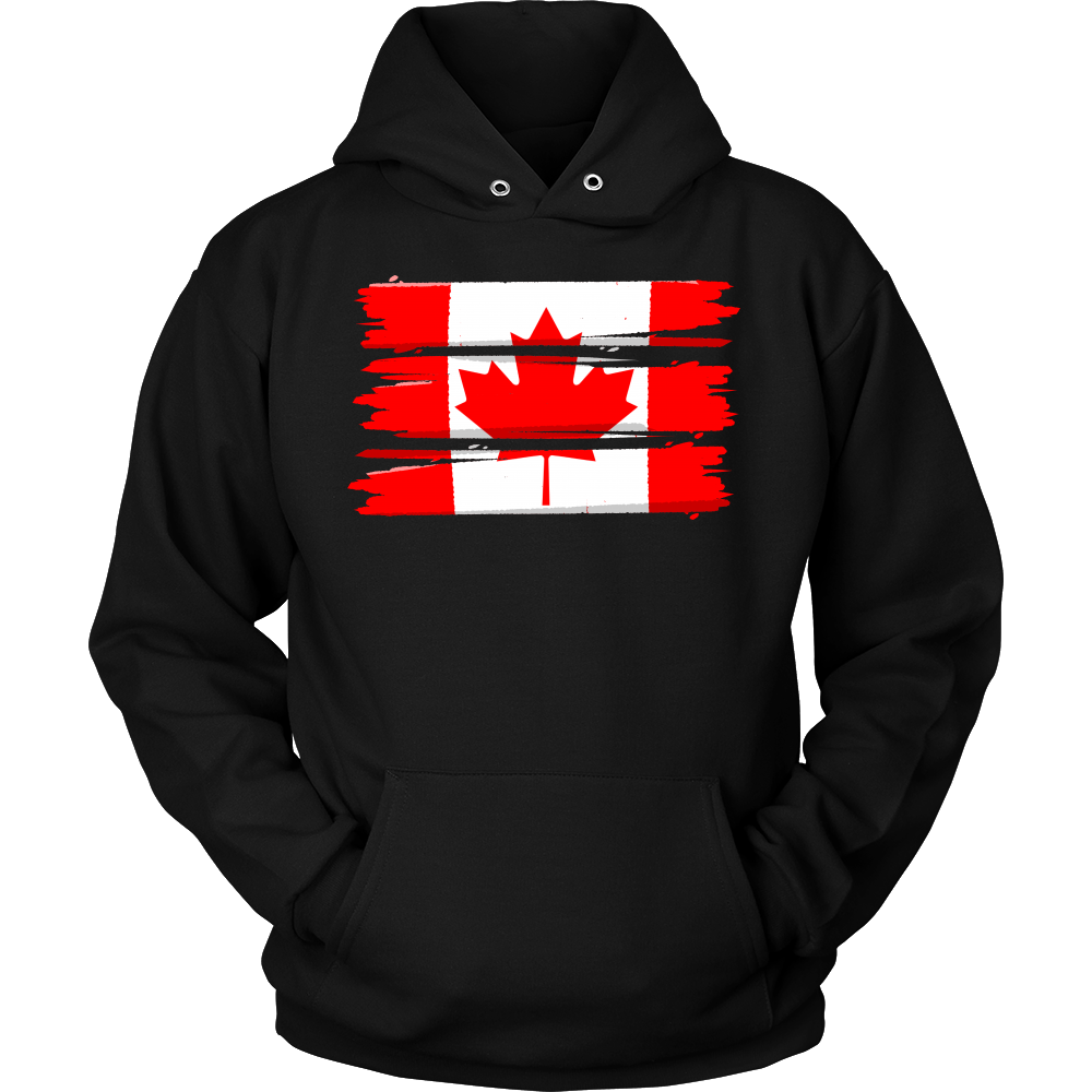 Flag Of Canada Maple Leaf Retro Canadian Hoodie