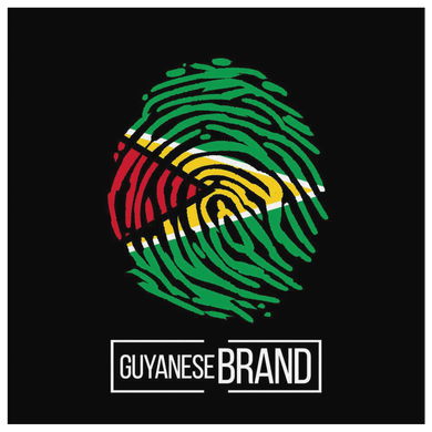 Guyana Guyanese Pride Flag Fingerprint Country Canvas
