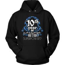 Anniversary Gift 10th, 10 Years Of Marriage, Couples Hoodie