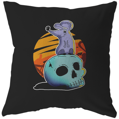 Happy Halloween Night Mouse Skull Costume Pillow