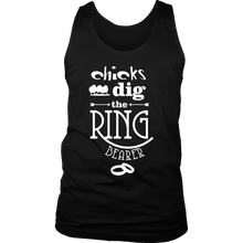 Funny Wedding Reception Chicks Dig Ring Bearer Party Men's tank