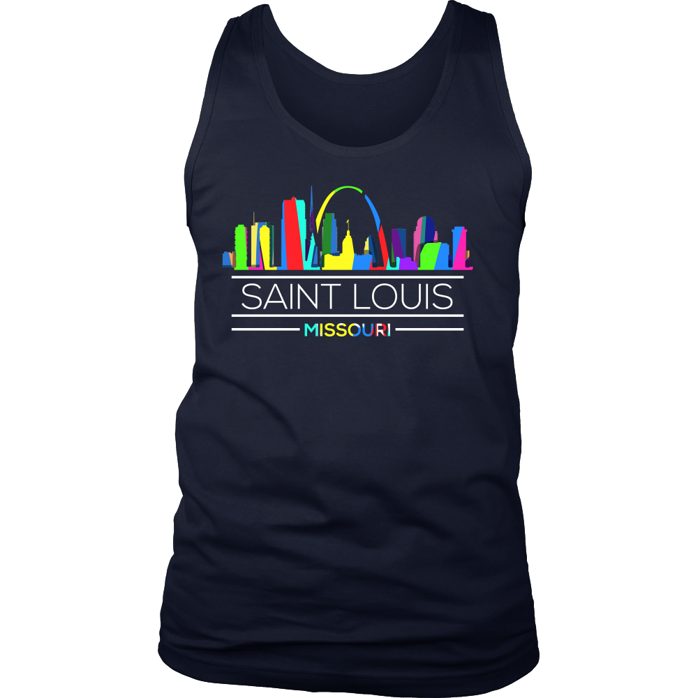 Saint Louis Missouri Skyline City Retro U.S Tank