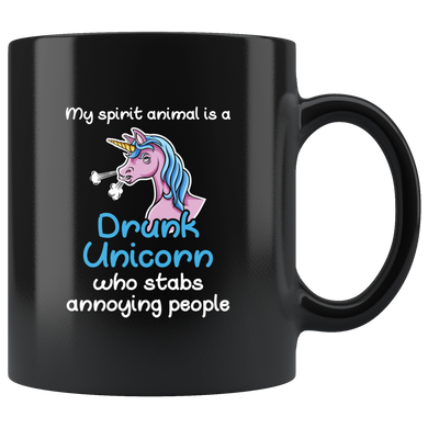 My Spirit Animal Is A Drunk Unicorn Who Stabs Annoying People, My Spirit Animal Is A Drunk Unicorn Who Stabs Annoying People, Gag Gift