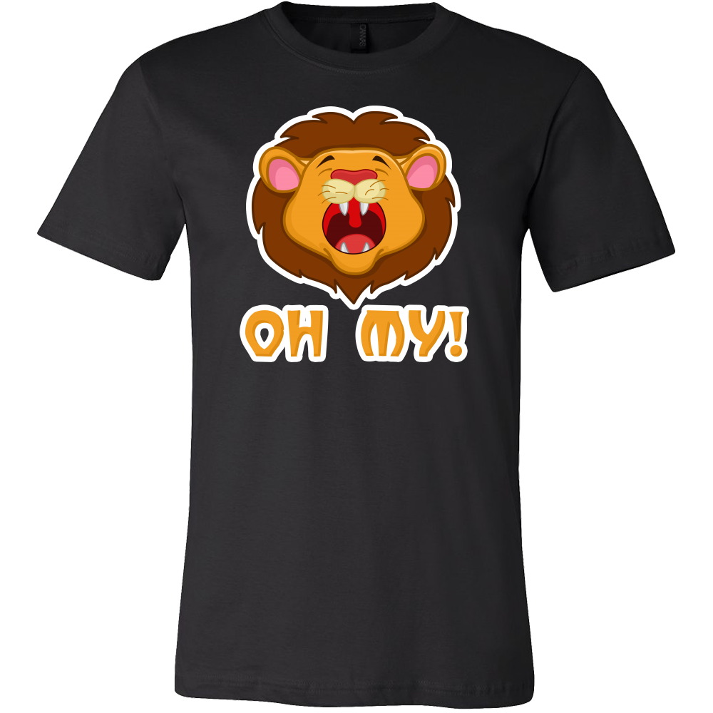 Lion Cartoon Face, Oh My, Funny Pun Joke Gift T-Shirt