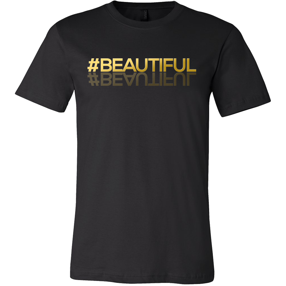 Social Media T Shirts Hashtag #Beautiful Funny Tee