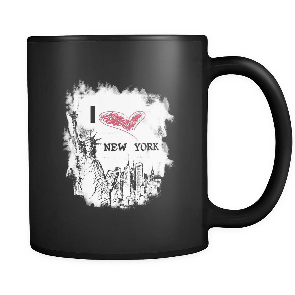 Love New York U.S.A National Flag Patriots 11oz black Mug