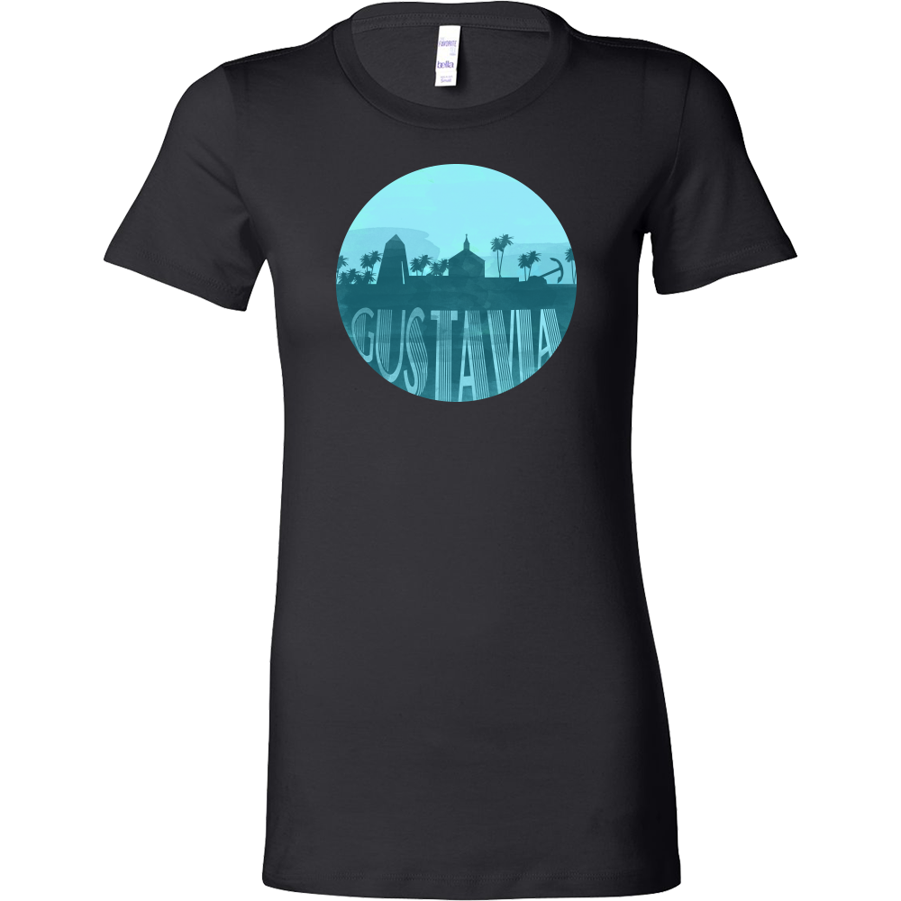 Gustavia Capital Skyline Horizon Sunset Saint Barthélemy Bella Shirt