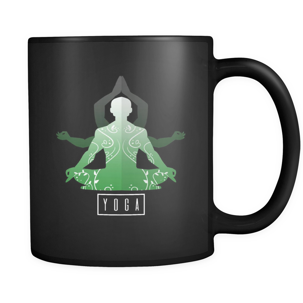 Love Yoga,Gym Workout,Spiritual Fitness Black 11oz mug