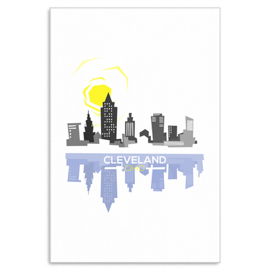 Cleveland Skyline Ohio Horizon Canvas Art