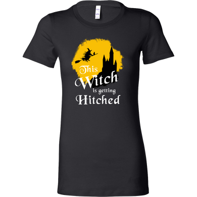 Funny This Witch Is Getting Hitched Halloween Costume Bella Shirt