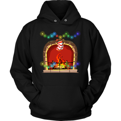 Fireplace Christmas Costume Hoodie Gift