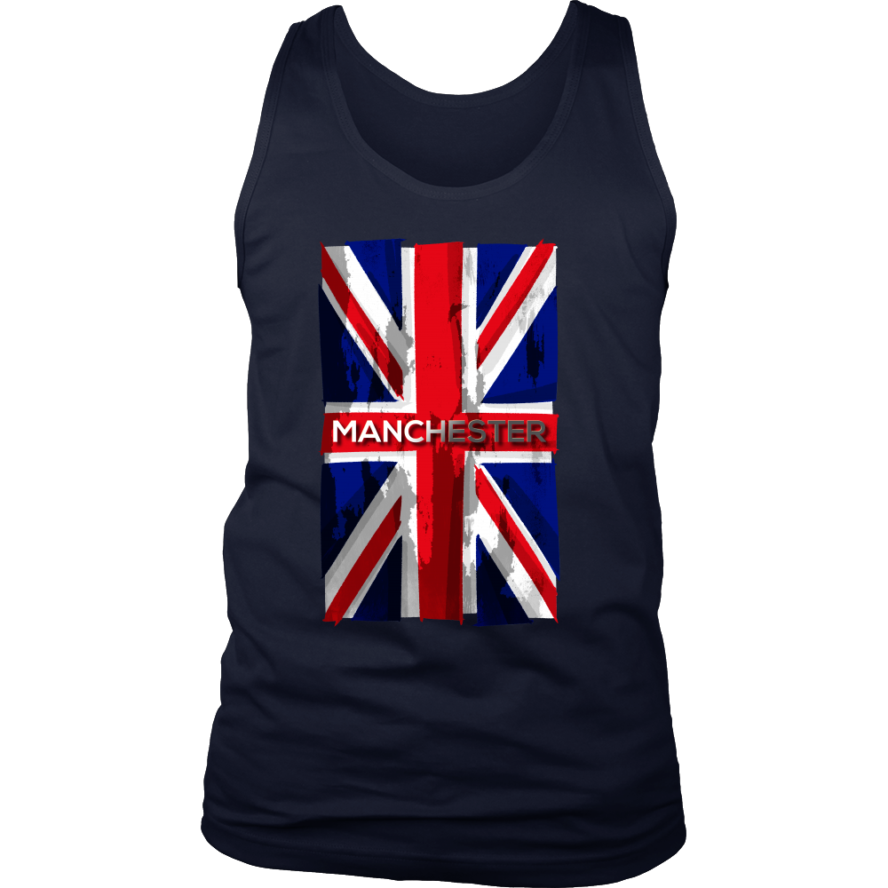 Manchester, England, Stay Strong, Vintage Flag UK Tank
