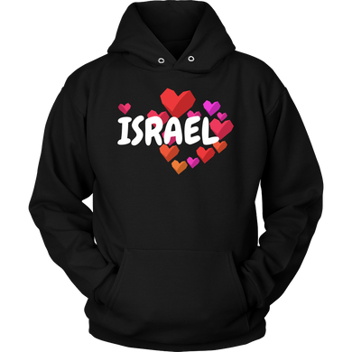 I Love Israel Vintage Retro Distressed Star Flag Hoodie
