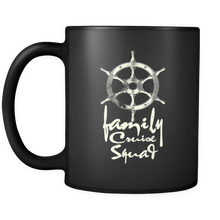 Cute Family Cruise Squad Ocean Cruise Ship Vacation Black 11oz Mug