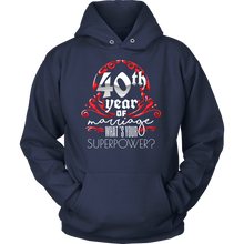 Anniversary Gift 40th, 40 Years Of Marriage, Couples Hoodie