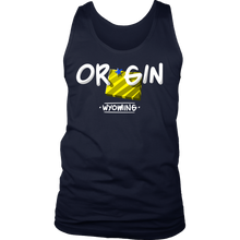 Wyoming State Map Origin Local Urban Home USA Men's tank