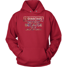 Opinions Only Exist Because A Lack of Data Funny Science Hoodie