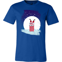 Santa in Chimney Christmas Costume T Shirt Xmas Gift