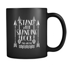"Custom Printed Mug - ""Stand with Standing Rock - Mni Wiconi"" 11 oz Travel Mug"