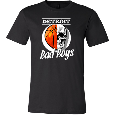 Detroit Bad Boys Basketball Skull USA T-shirt