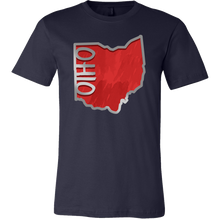 Love Ohio Flag Map Outline Souvenir Gift T-shirt