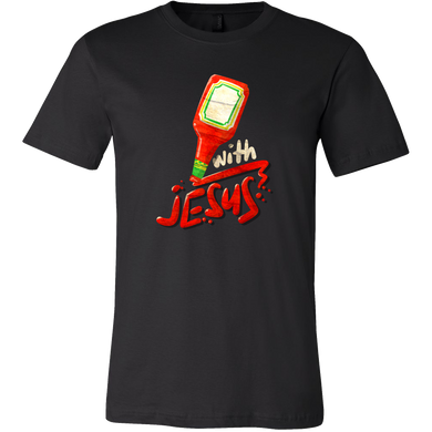 Funny Religious Quote Catch Up with Jesus Stamped T-Shirt