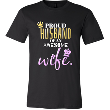 'Proud Husband of an Awesome Wife' I Love My Wife T-shirt