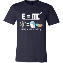 Energy = Milk and Coffee Cute Equation Tshirt for Coffee Lovers