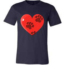 Heart and Pet Paws Love Valentine Tee Shirt