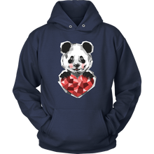 Cute Panda Love with Heart on Panda Bear Hoodie