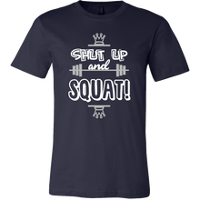 Shut Up And Squat Funny Fitness Exercise Gym T-shirt