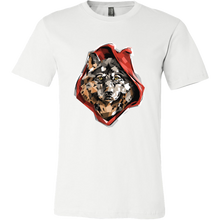 Cool Graphic Red Ridin' Wolf Print Tshirt
