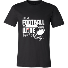I'm a Football and Wine Kind of Girl Cute Tshirt