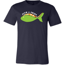 Fish and Fries Funny Fishes Swimming Fisherman Tee Shirt