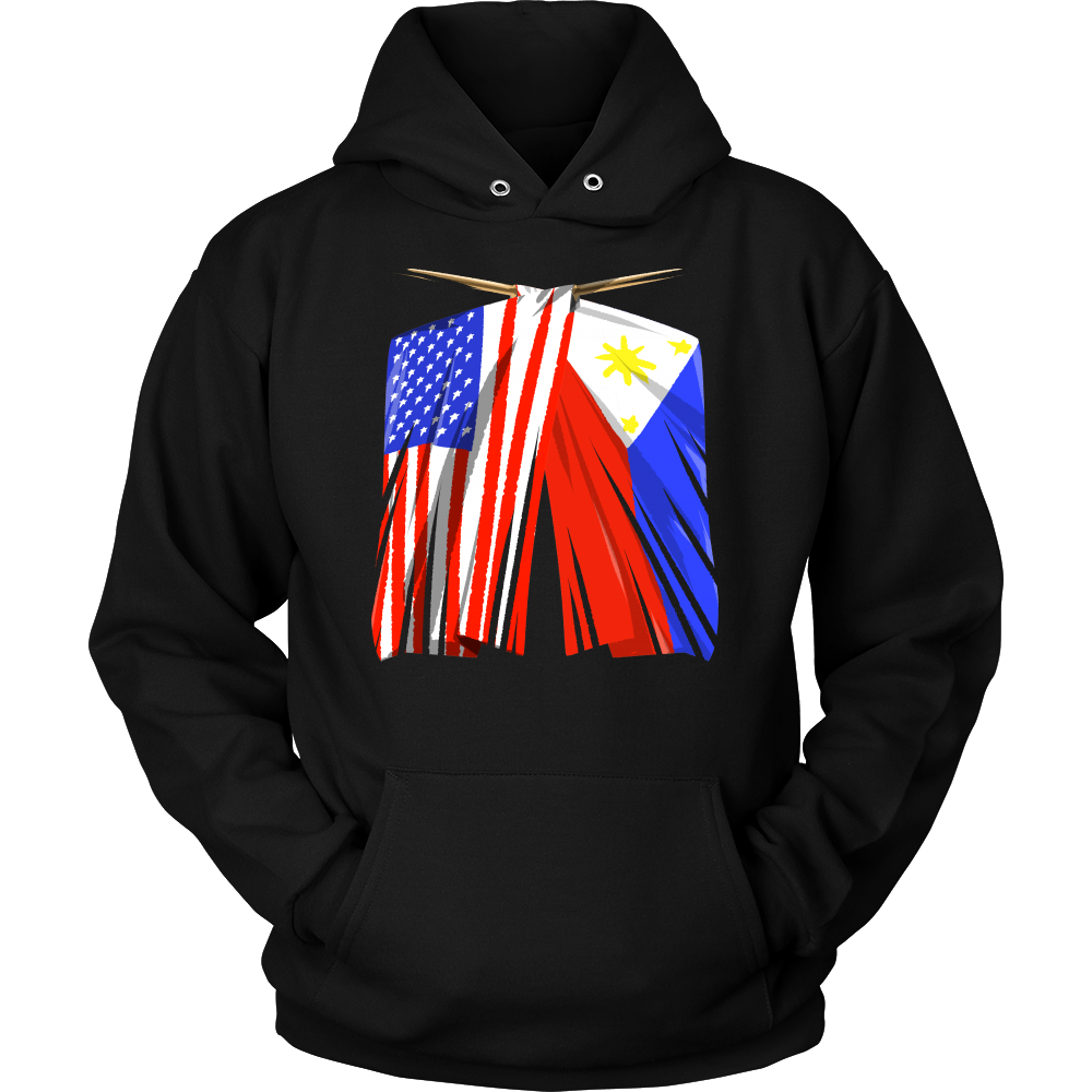 Philippines Flag T-Shirt Filipino American Flag Hoodie