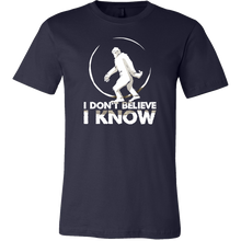 Bigfoot Sasquatch I Don't Believe I Know Stamped Shirt