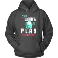 Video Game Hoodie - Who wants to play video games quote design