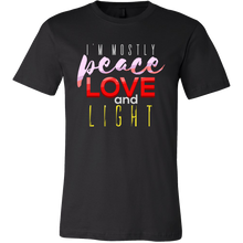 Peace Love and Light Inspirational Quote Premium T-Shirt