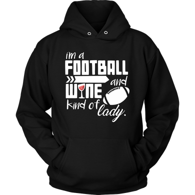 I'm a Football and Wine Kind of Girl Cute Hoodie