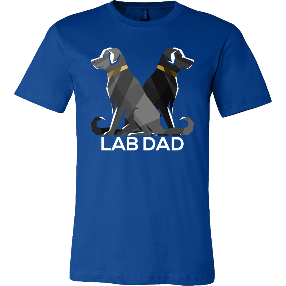 Dog Dad Lab Black Pet Labrador Retriever T-shirt