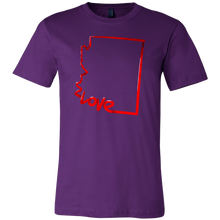 Love Arizona State Flag Map Outline Souvenir Gift T-shirt