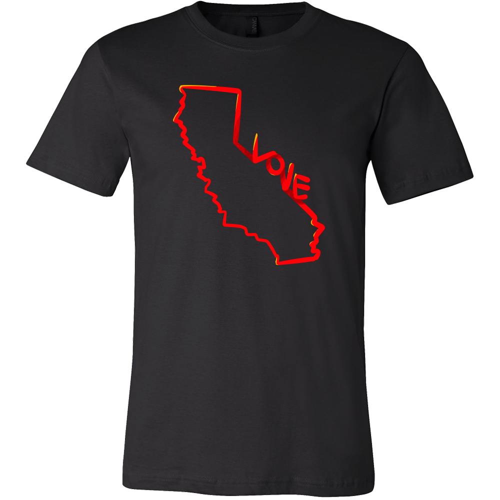 Love California State Map Outline Souvenir Gift T-shirt