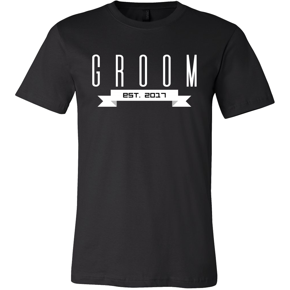 Bachelor Groom To Be Est.2017 Getting Married T-shirt