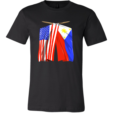 Philippines Flag T-Shirt Filipino American Flag Tee Shirt
